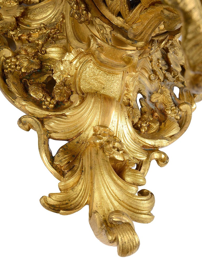 Late 19th Century Gilded Ormolu Centre Piece In Good Condition For Sale In Brighton, Sussex