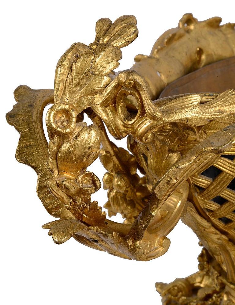 Late 19th Century Gilded Ormolu Centre Piece For Sale 1