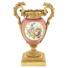 Late 19th Century Gilt Bronze and 'Sevres' Style Porcelain Vase