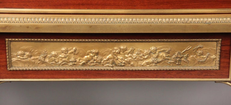 Late 19th Century Gilt Bronze Mounted Bureau a Cylindre by François Linke In Good Condition For Sale In New York, NY