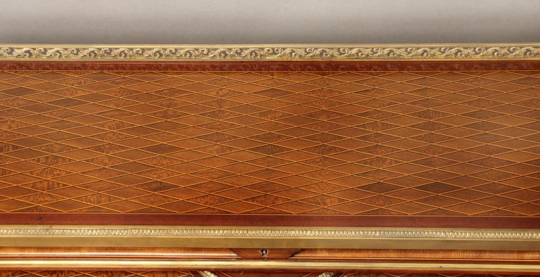 Late 19th Century Gilt Bronze Mounted Bureau a Cylindre by François Linke For Sale 1