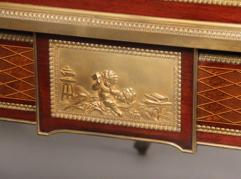 Late 19th Century Gilt Bronze Mounted Bureau a Cylindre by François Linke For Sale 2