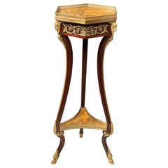 Late 19th Century Gilt Bronze Mounted Empire Style Side Table