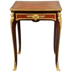 Late 19th Century Gilt Bronze Mounted Envelope Game Table by François Linke
