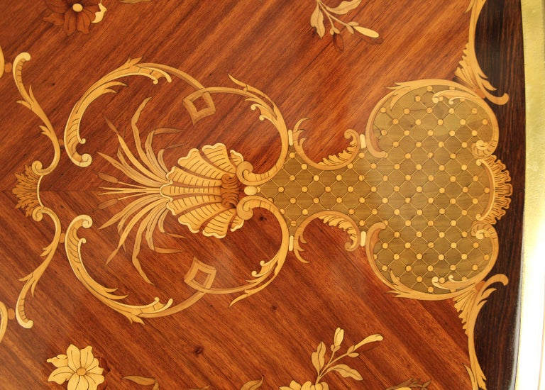 French Late 19th Century Gilt Bronze Mounted Inlaid Marquety Table by Paul Sormani For Sale