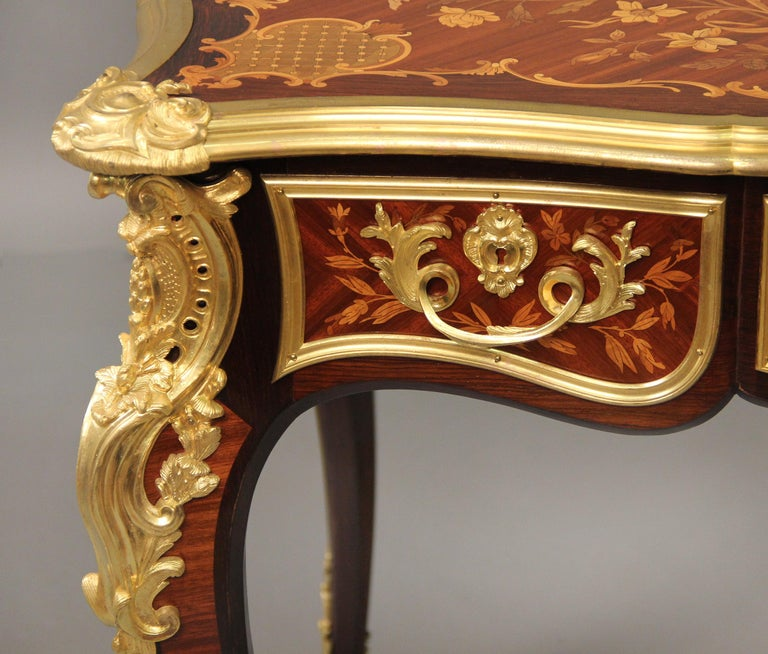 Late 19th Century Gilt Bronze Mounted Inlaid Marquety Table by Paul Sormani For Sale 1