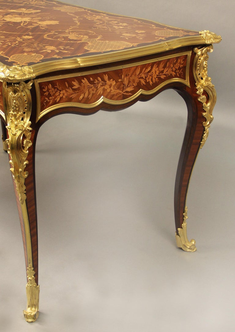 Late 19th Century Gilt Bronze Mounted Inlaid Marquety Table by Paul Sormani For Sale 2