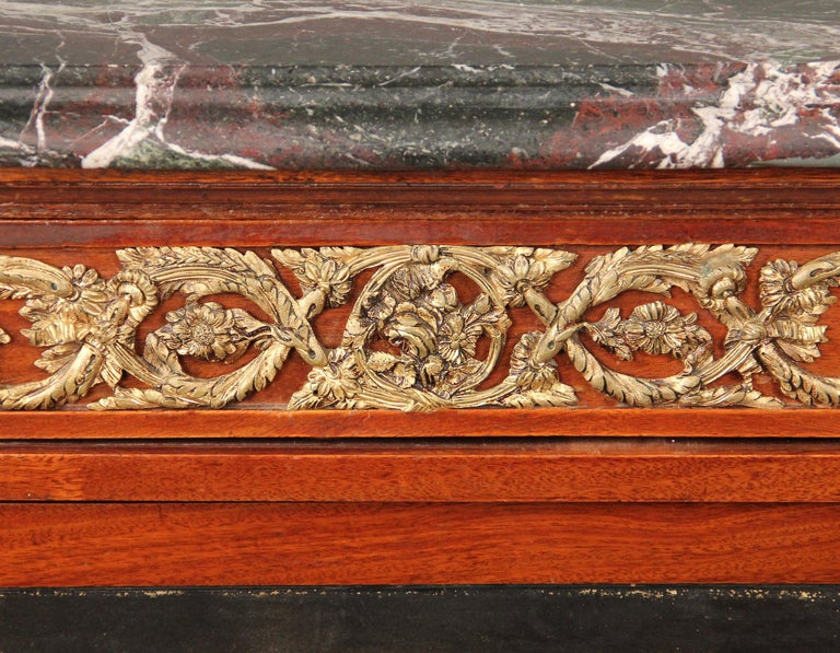 Belle Époque Late 19th Century Gilt Bronze Mounted Louis XVI Style Chinoiserie Cabinet For Sale