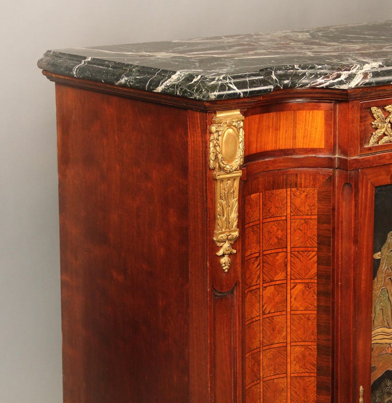 Late 19th Century Gilt Bronze Mounted Louis XVI Style Chinoiserie Cabinet In Good Condition For Sale In New York, NY