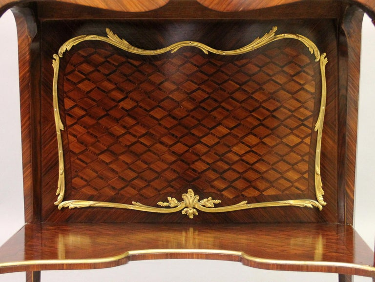 Belle Époque Late 19th Century Gilt Bronze Mounted Marquetry Cabinet by François Linke For Sale