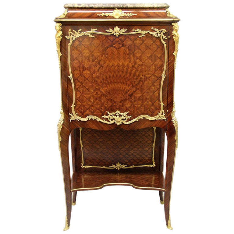 Late 19th Century Gilt Bronze Mounted Marquetry Cabinet by François Linke For Sale
