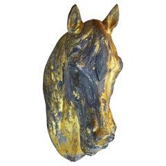 Late 19th Century Gilt Zinc Horse Head