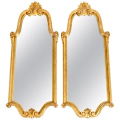 Late 19th Century Giltwood Frame Pair Hanging Wall Mirror