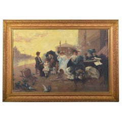 Late 19th Century Giltwood Framed Signed Oil on Canvas