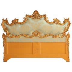 Late 19th Century Giltwood Venetian Headboard