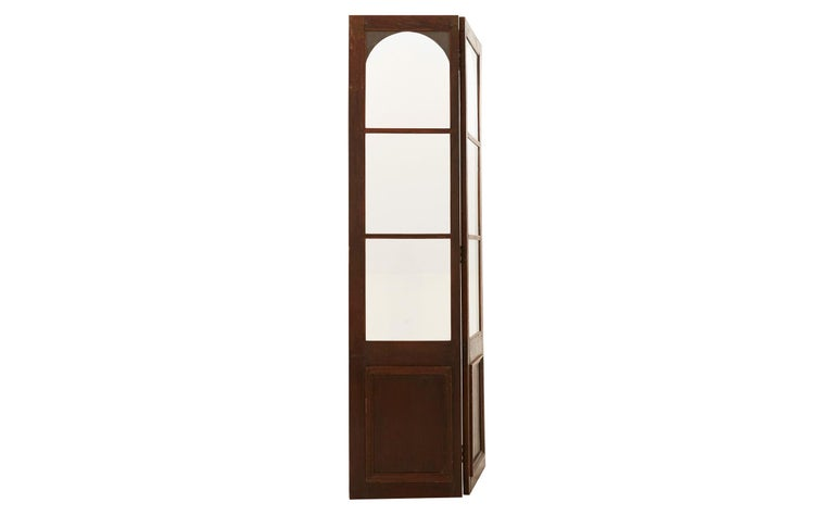 Late 19th Century Glass and Wood Room Divider In Good Condition For Sale In Chicago, IL