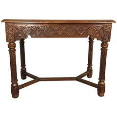 Late 19th Century Gothic Revival Small Table or Console in Walnut