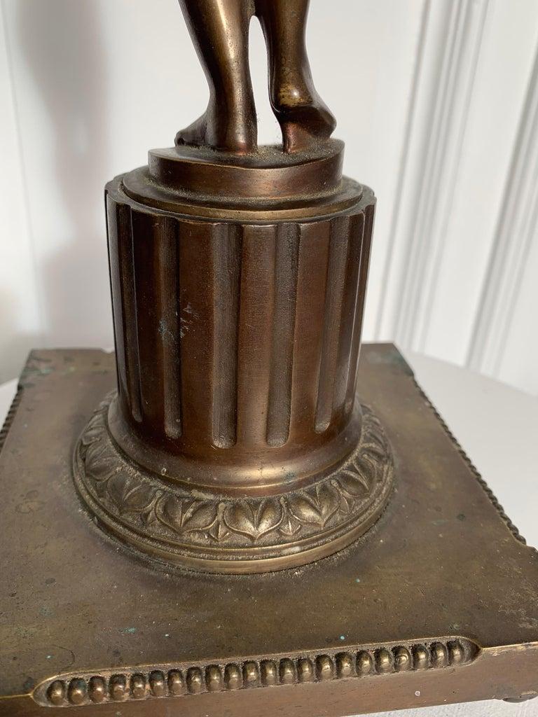 Late 19th Century Grand Tour Italian Bronze Sculpture of Nude Venus Candlestick For Sale 10