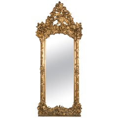 Late 19th Century Hand Carved Ornate Austrian Mirror