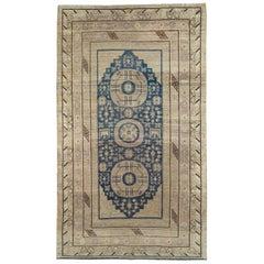 Late 19th Century Handmade East Turkestan Khotan Gallery Carpet