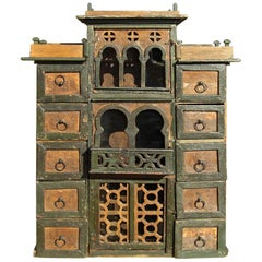 Late 19th Century Hanging Neo-Moorish Spice Cabinet from Andalusia, Spain