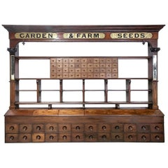 Late 19th Century Huge English Seed Merchants Shop Dresser