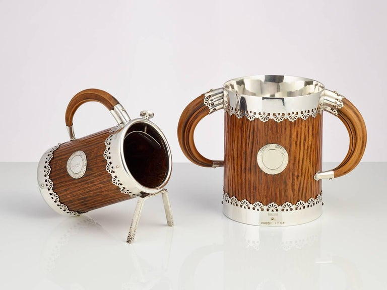 Silver Plate Late 19th Century Ice Bucket and Wine Bottle Holder by Hukin & Heath, circa 1890 For Sale