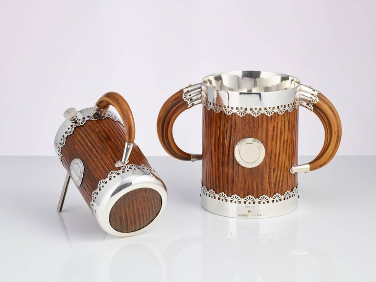 Late 19th Century Ice Bucket and Wine Bottle Holder by Hukin & Heath, circa 1890 For Sale 1