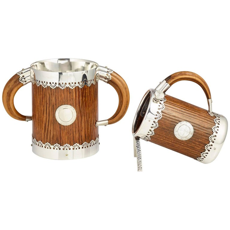 Late 19th Century Ice Bucket and Wine Bottle Holder by Hukin & Heath, circa 1890 For Sale