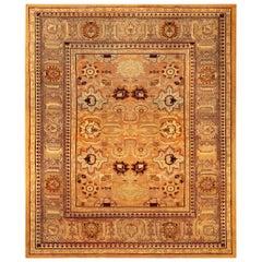 Late 19th Century Indian Amritsar Handmade Wool Rug