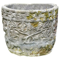 Late 19th Century Istrian Stone Planter of Irregular Form