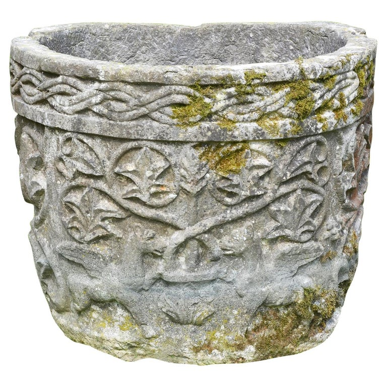 Late 19th Century Istrian Stone Planter of Irregular Form For Sale