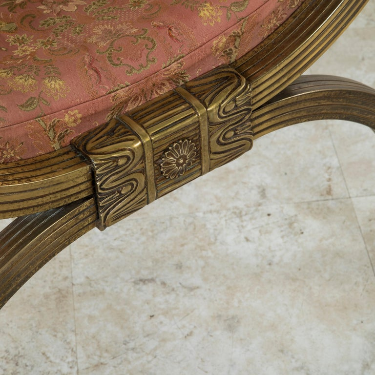 Late 19th Century Italian Baroque Bronze Dagobert Bench, Banquette, or Stool For Sale 5