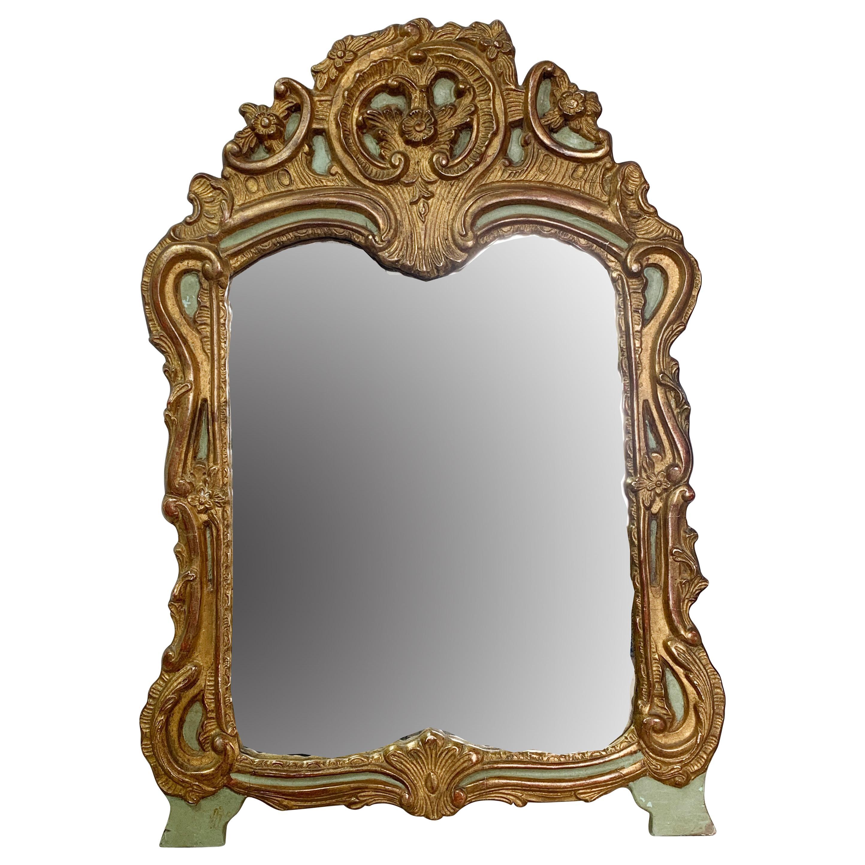 Late 19th Century Italian Carved Mirror