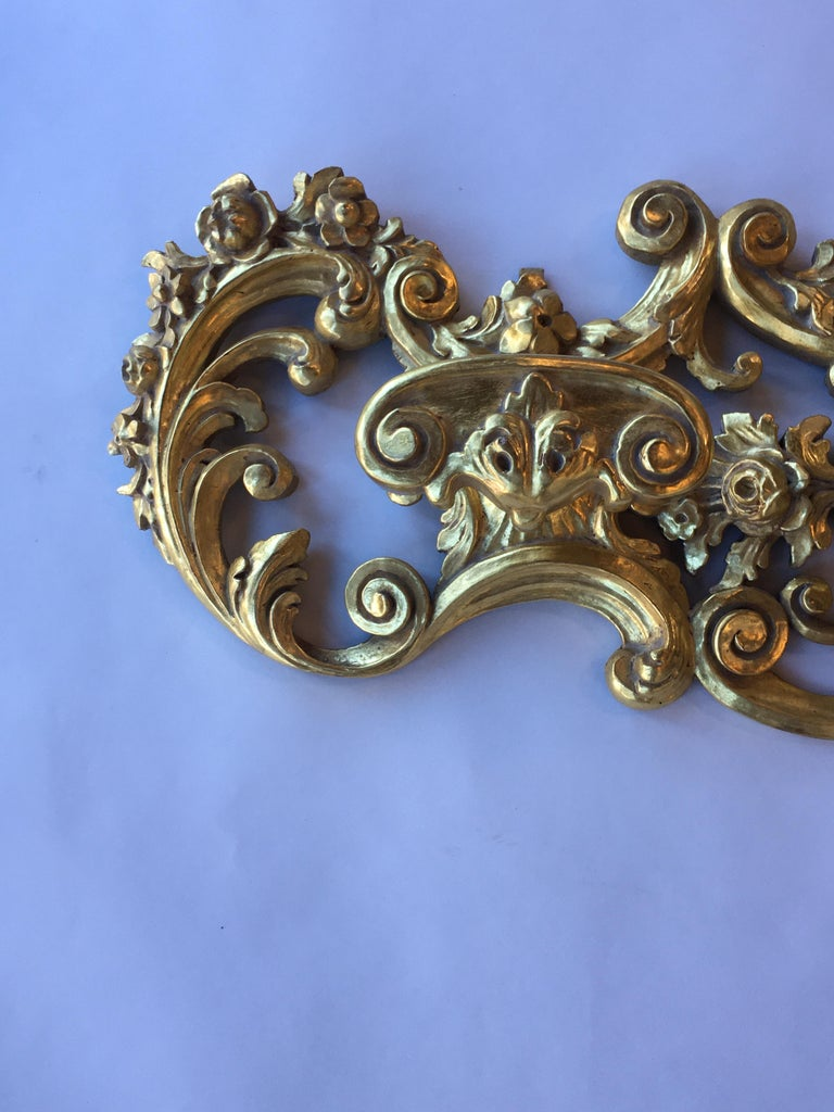 Other Late 19th Century Italian Hand Carved 22-Karat Gold Coat Hanger For Sale