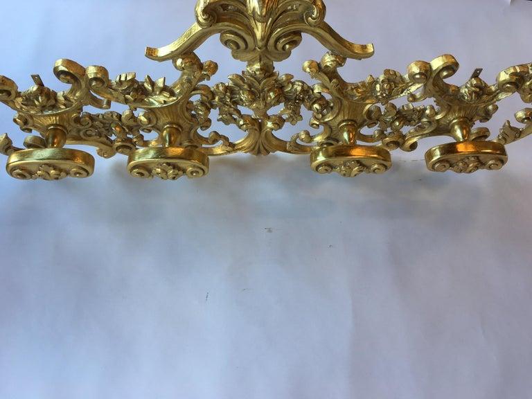 Late 19th Century Italian Hand Carved 22-Karat Gold Coat Hanger For Sale 1
