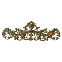 Late 19th Century Italian Hand Carved 22-Karat Gold Coat Hanger