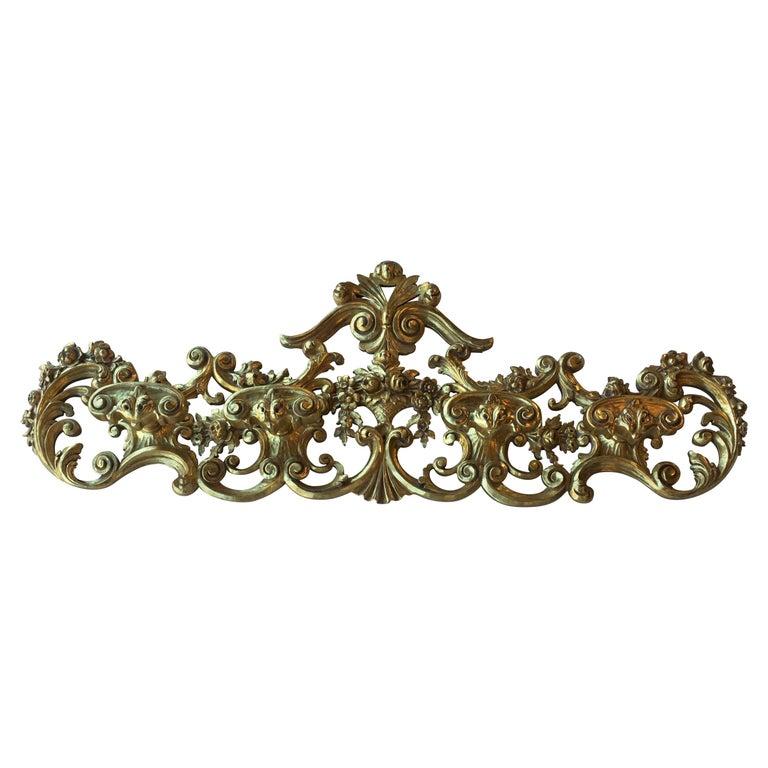 Late 19th Century Italian Hand Carved 22-Karat Gold Coat Hanger For Sale