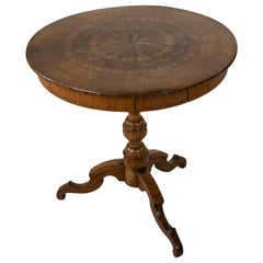 Late 19th Century Italian Marquetry Guéridon or Pedestal Table