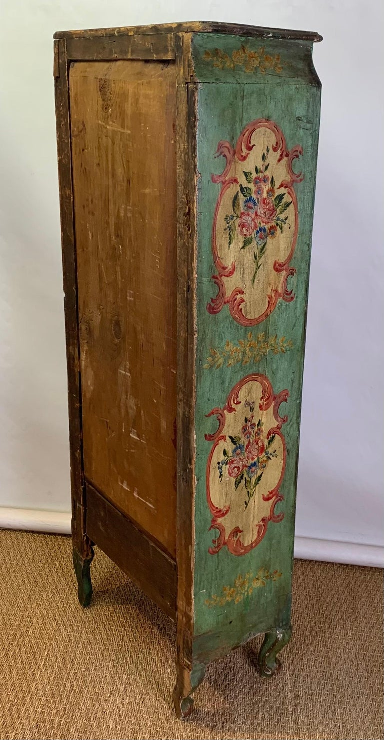Late 19th Century Italian Paint Decorated Semanier For Sale 6
