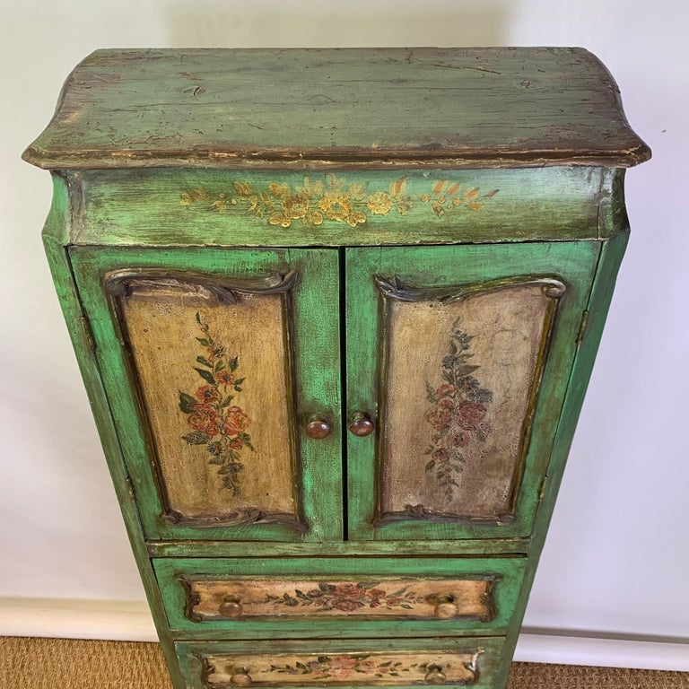 Late 19th Century Italian Paint Decorated Semanier For Sale 9