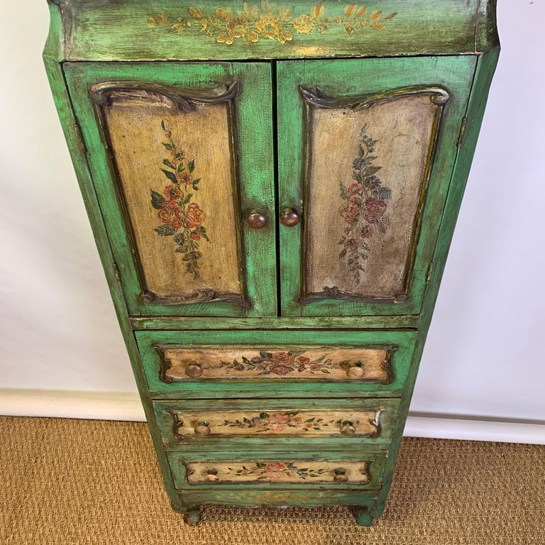 Late 19th Century Italian Paint Decorated Semanier For Sale 10
