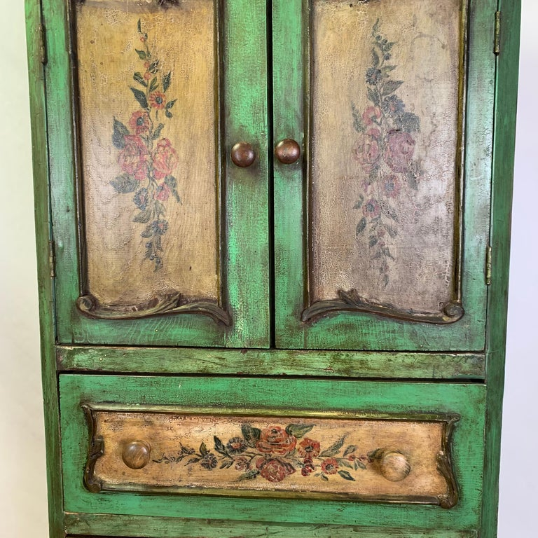 Late 19th Century Italian Paint Decorated Semanier For Sale 11