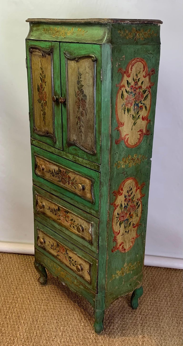 Late 19th Century Italian Paint Decorated Semanier For Sale 1