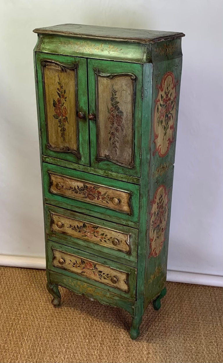 Late 19th Century Italian Paint Decorated Semanier For Sale 2