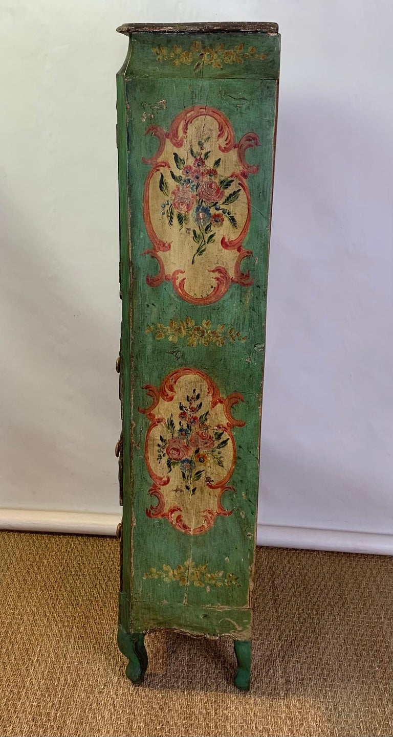 Late 19th Century Italian Paint Decorated Semanier For Sale 3