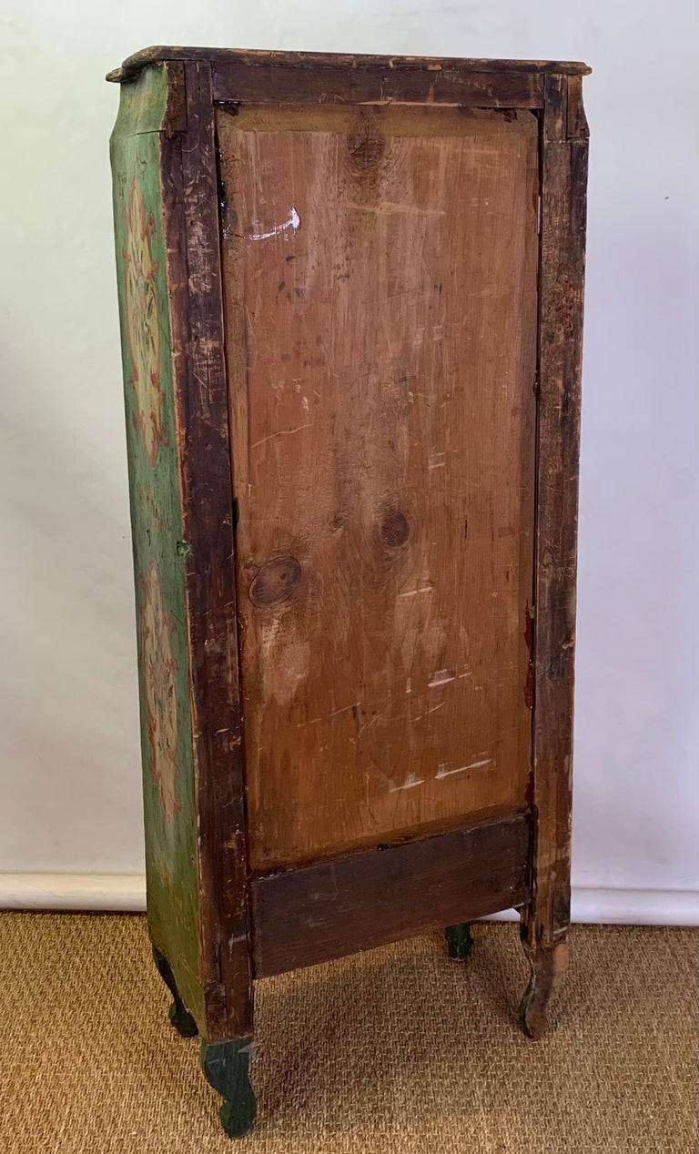 Late 19th Century Italian Paint Decorated Semanier For Sale 4