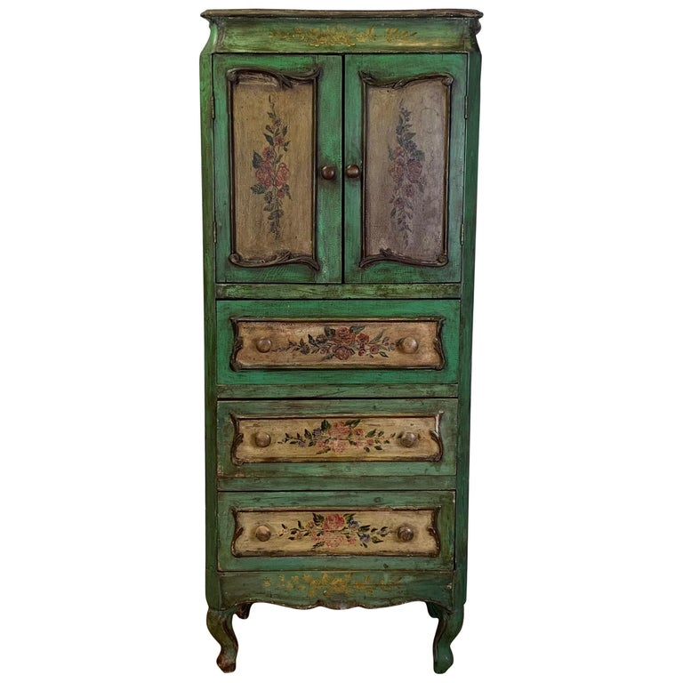 Late 19th Century Italian Paint Decorated Semanier For Sale
