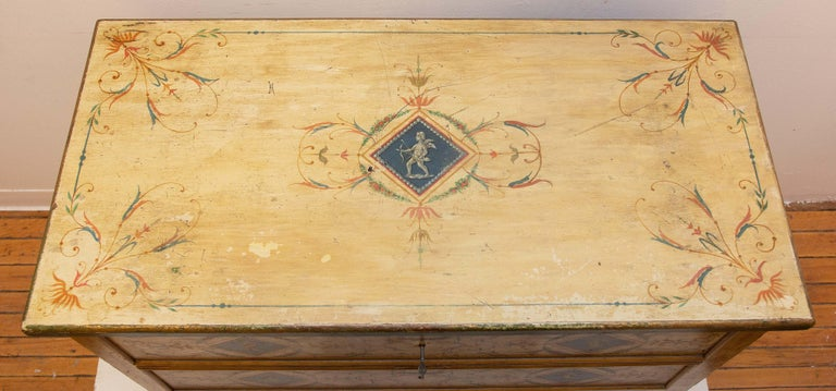 Late 19th Century Italian Painted Commode In Good Condition For Sale In Rochester, NY