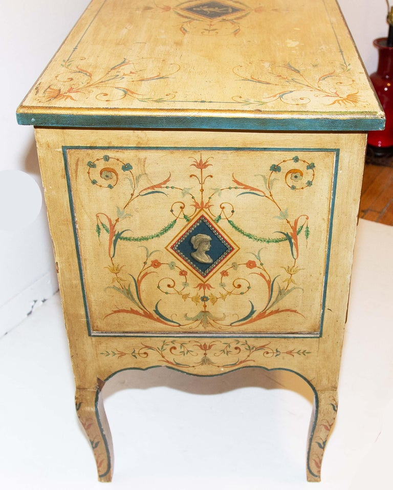 Late 19th Century Italian Painted Commode For Sale 1